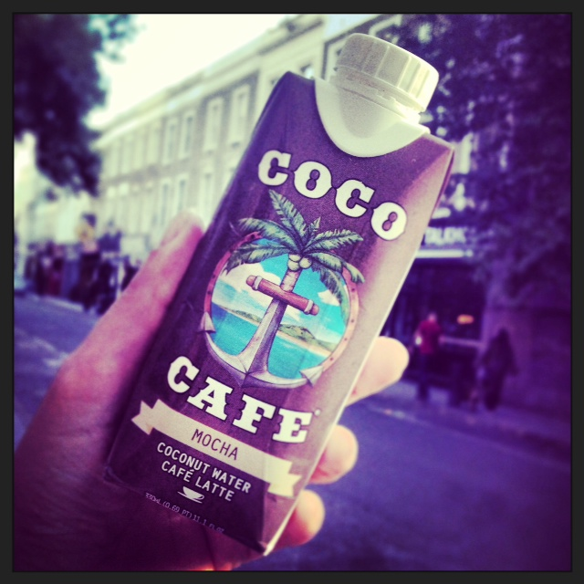 Poppy on Portobello Road with Coco Cafe Mocha