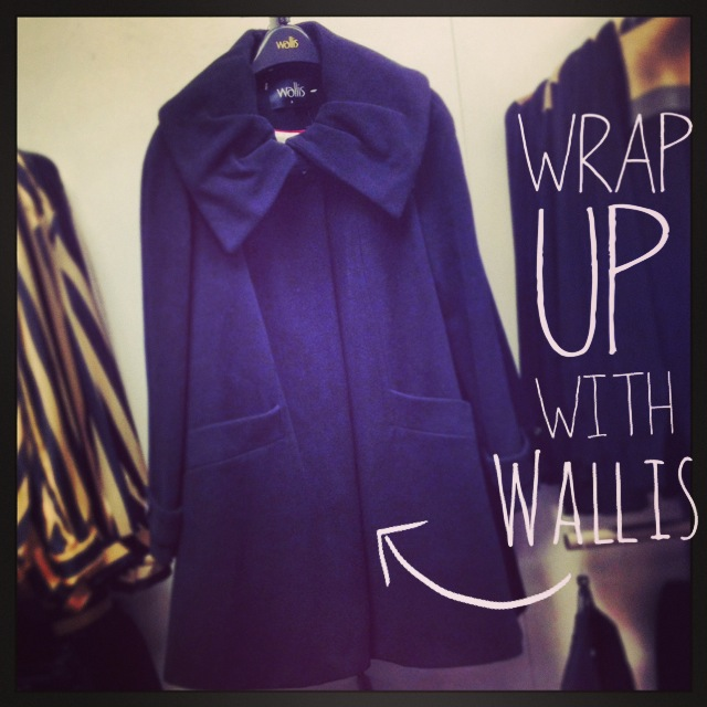 Black Swing Coat - £52 (was £65) - Wallis