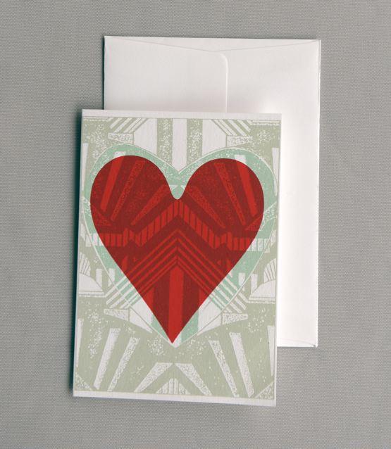 Art Deco Heart 1 w