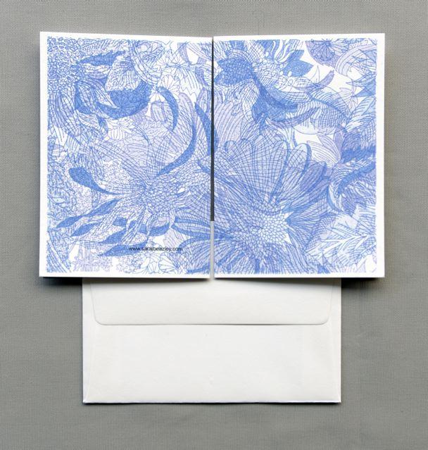 Plain Blue Floral w_2