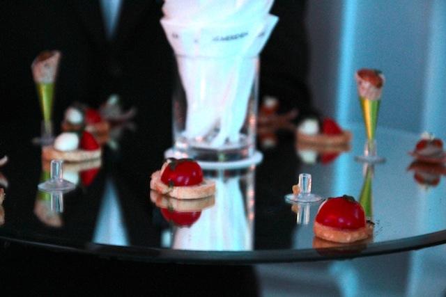 Act 2 - Vine cherry tomato, Bocconcino Mozzarella and basil crouton