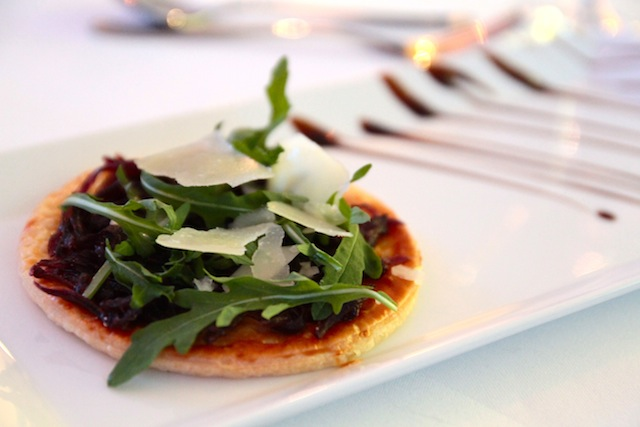 Role Call: Red onion tartine, rocket salad and Berkswell cheese shavings