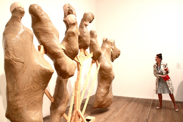 Thomas Hirschhorn – Candelabra with heads 2006