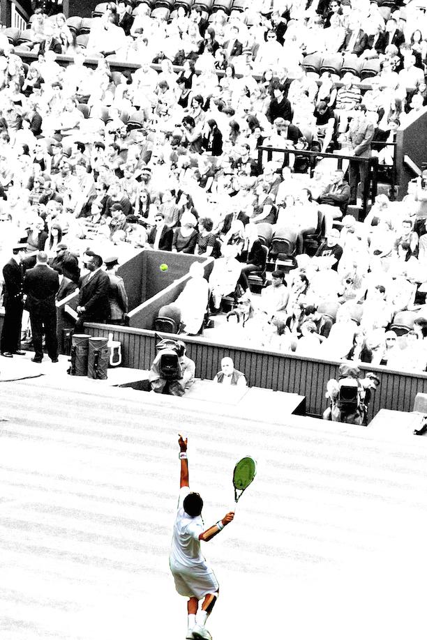 tennis bw