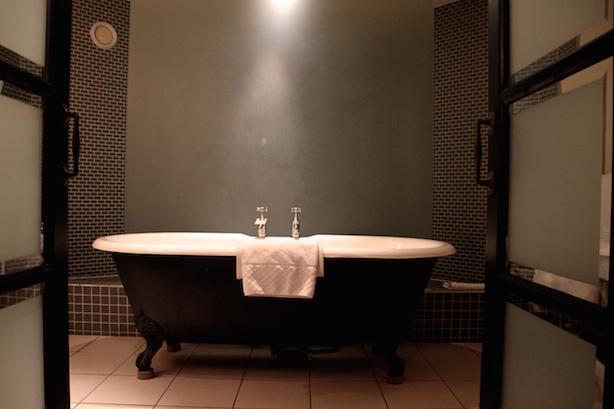 Roll top bath in Hotel du Vin
