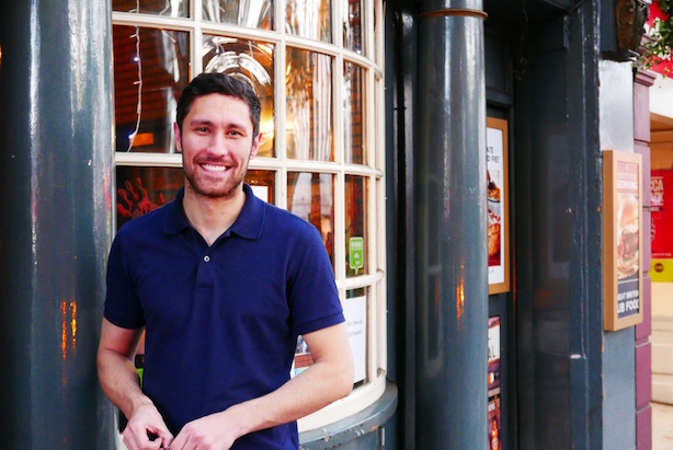 Stefano Widdrington - manager at the Prince of Wales Pub, Kensington Church Street