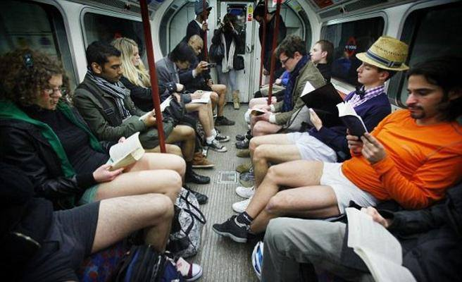 No Trousers Tube Ride