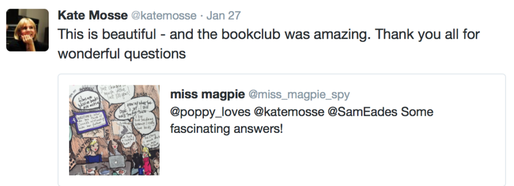 Kate Mosse tweet Poppy Loves Book Club